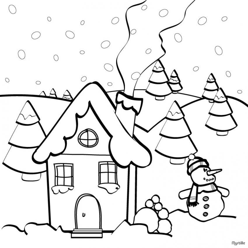 imagenes de navidad para colorear