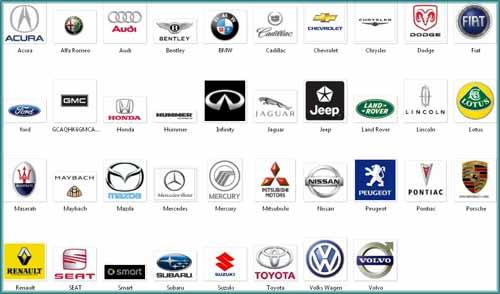 Imagenes de todas las marcas de autos con sus nombres
